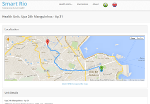 Smart Rio - route to an Emergency Unit